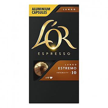 L'OR Espresso lungo estremo 10 capsules 52g
