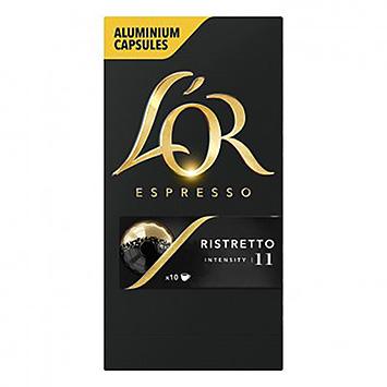 L'OR Espresso ristretto 10 capsules 52g