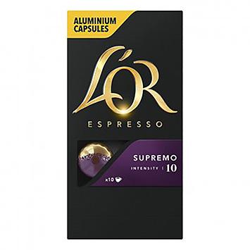 L'OR Espresso supremo 10 Kapseln 52g