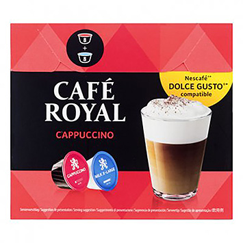 Café royal Cappuccino dolce gusto compatible 16 capsules 170g