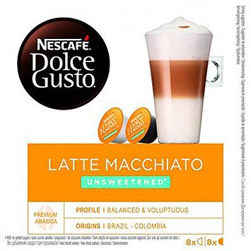 Nescafé Dolce gusto latte macchiato unsweetened 16 capsules 168g