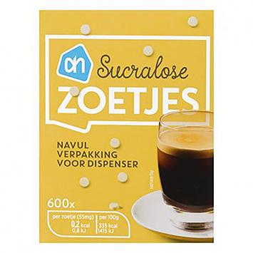 AH Sucralose sød påfyldningspakke til dispenser 600 stykker 33g