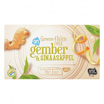 AH Thé vert et blanc gingembre et orange 20 sachets de 24g
