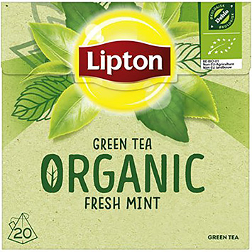 Lipton Green tea organic fresh mint 20 bags 28g