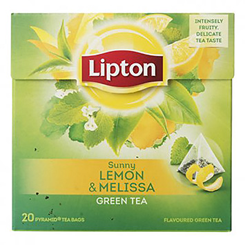 Lipton Sunny lemon and melissa green tea 20 bags 32g