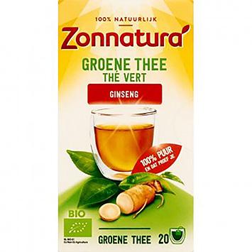 Zonnatura Groene thee ginseng 20 zakjes 36g