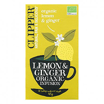 Clipper Lemon and ginger organic infusion 20 bags 45g