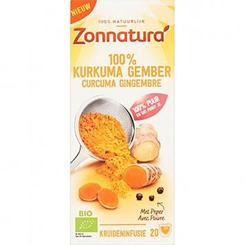 Zonnatura 100% gurkemeje ingefær 20 poser 36g