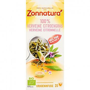 Zonnatura 100% Verveine citroengras 20 zakjes 30g