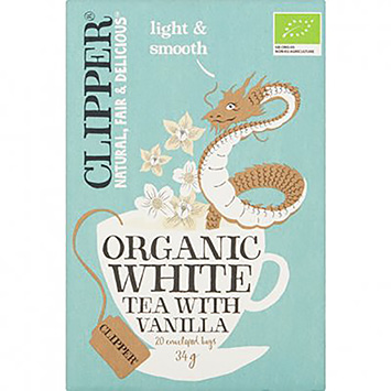 Clipper Organic white tea with vanilla 20 bags 34g