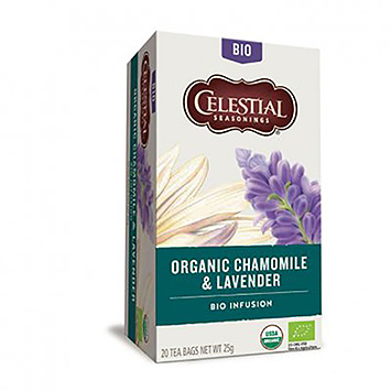 Celestial seasonings Organic chamomile and lavender tea 20 bags 25g