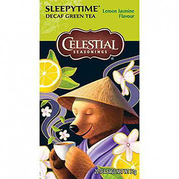 Celestial Seasonings Sleepytime green tea lemon jasmin 20 bags 31g