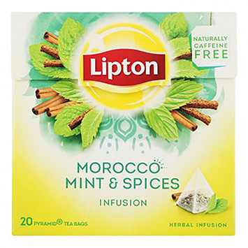 Lipton Morocco mint and spices infusion 20 bags 35g