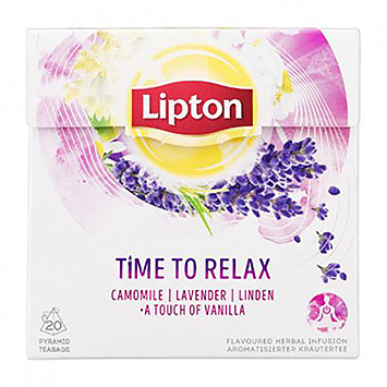 Lipton Time to relax camomile levender linden vanilla 20 bags 30g