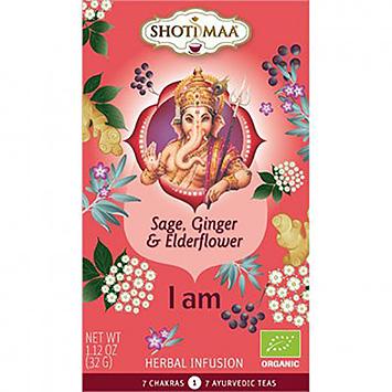 Shoti maa I am sage ginger elderflower 15 bags 32g