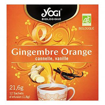 Yogi Gingembre Orange Canelle Vanille 12 Beutel 22g