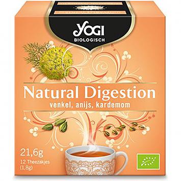 Yogi Digestion Naturelle Fenouil Anis Cardamome 12 sachets 22g